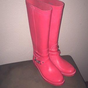 Women's Tall Coral Coach Rain Boots